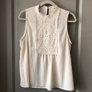 Like new! Anthro off white lace  blouse